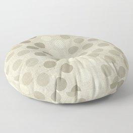 """Nude Burlap Texture and Polka Dots"" Floor Pillow"