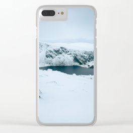 Lough Tay in winter time (RR 195) Clear iPhone Case
