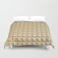 pyramid Duvet Covers featuring pyramid by Ioana Luscov