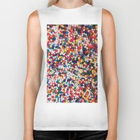 sprinkles Biker Tanks featuring SPRINKLES by ThingsLikeStuff