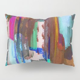 Brushed multicolor abstract painting Pillow Sham