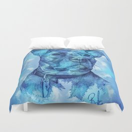 """Hank"" the Rescue Blue Nose Pitbull Staffordshire Terrier Duvet Cover"