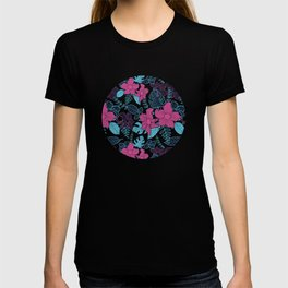 Modern Bold Jungle Floral Pattern Memphis Style T-shirt