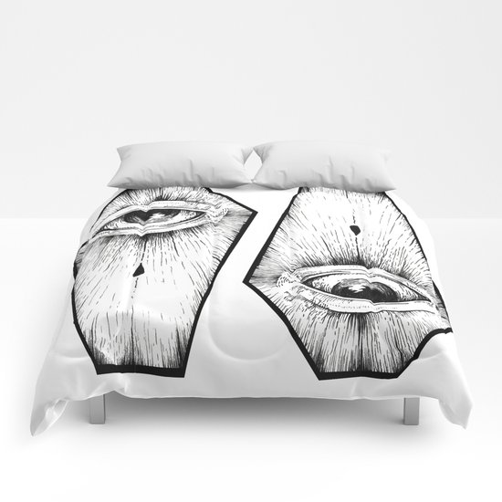 two coffins Comforters