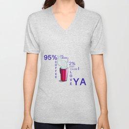 2% tshirt coffee Unisex V-Neck