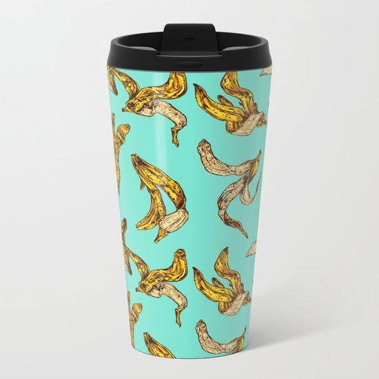 Banana Peel Pattern Metal Travel Mug