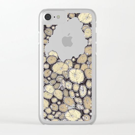 WOOD Clear iPhone Case