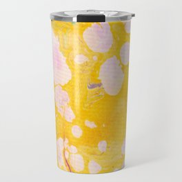 speckled marble | yellow Travel Mug