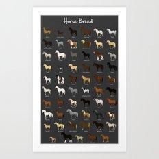 Horse breed Art Print