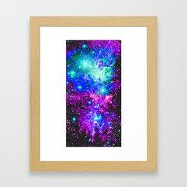 Fox Fur Nebula Galaxy Pink Purple Blue Framed Art Print