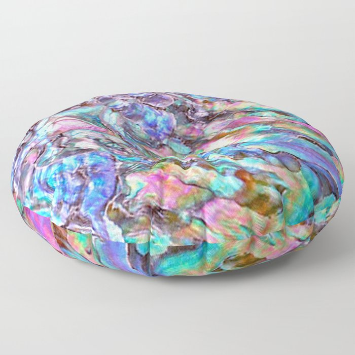 Shimmery Rainbow Abalone Mother of Pearl Floor Pillow