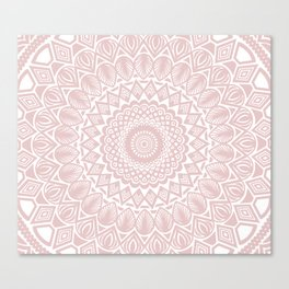 Light Rose Gold Mandala Minimal Minimalistic Canvas Print