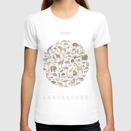 100 animals T-shirt