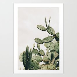 Cactus on blue sky #society6 #decor #buyart Art Print