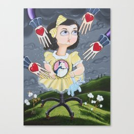 The Boogieman Stole Her Heart Canvas Print