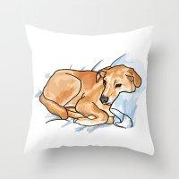 leo Throw Pillows featuring Leo by Ken Coleman