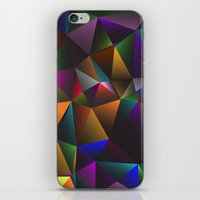 triangles iPhone & iPod Skins featuring TRIANGLES by eARTh