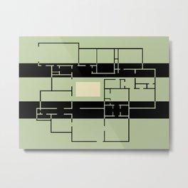 Abstract Dream Home Floor Plan Art Metal Print