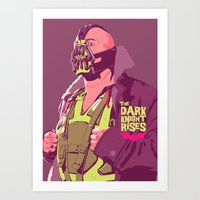 bane Art Prints featuring BANE by Mike Wrobel