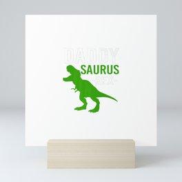 DADDY SAURUS REX Mini Art Print