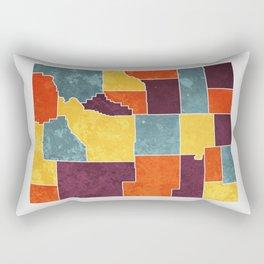Wyoming colour region map Rectangular Pillow