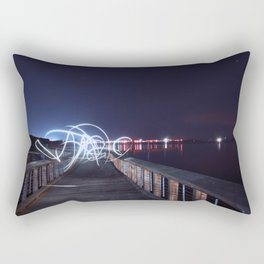Flowing Lights Rectangular Pillow