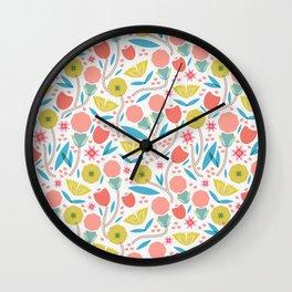 Geometric Floral Pattern Wall Clock