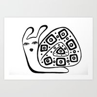 decorative snail Art Print
