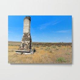 Chimney Landscape Metal Print