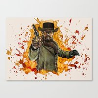 django Canvas Prints featuring Django by thinkinink