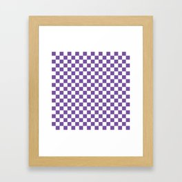 Purple Checkerboard Framed Art Print