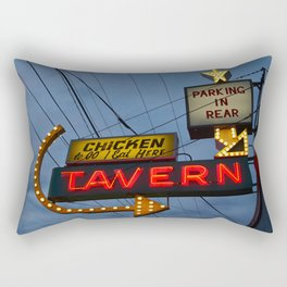 Chicken to go Rectangular Pillow