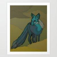 The Three Tailed Fox Art Print