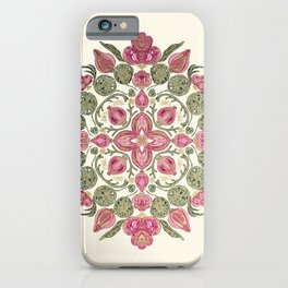 Mandala lotuses and orchids iPhone Case