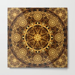Pillar of Ages Mandala Metal Print
