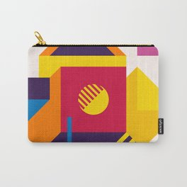 Abstract modern geometric background. Composition 19 Carry-All Pouch