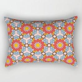 Arabian Geometric Pattern with vibrant colors Rectangular Pillow