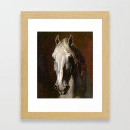 The head of white horse - Theodore Gericault Framed Art Print