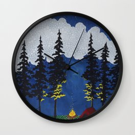 Red Tent Wall Clock