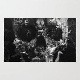 Kingdom Skull B&W Rug