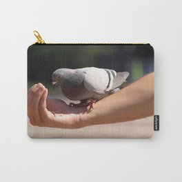 Feeding the pigeon Carry-All Pouch
