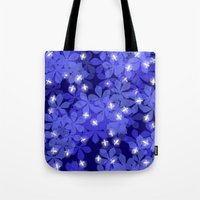 fireflies Tote Bags featuring Fireflies by Heleen van Buul