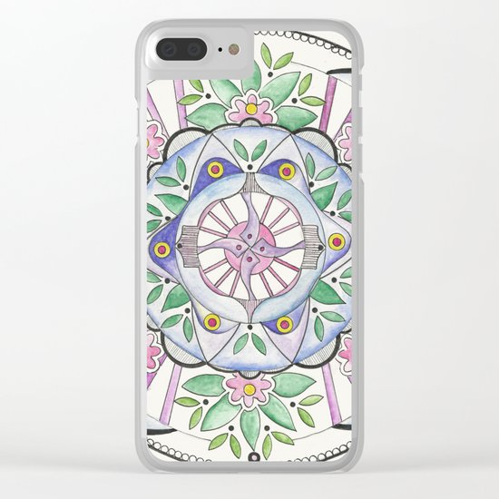 Mandala Floribunda Clear iPhone Case