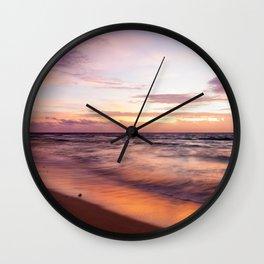 Early Morning Shades of Pink Wall Clock