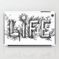 flower of life iPad Cases featuring LIFE by bonathos