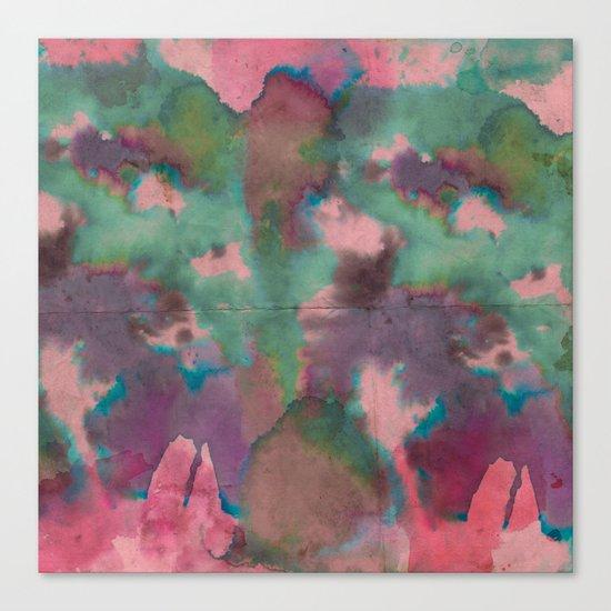 Pink Tie-dye Canvas Print