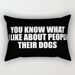 i like dogs Rectangular Pillow