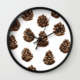 Seasonal Pine Cones Wall Clock
