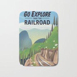 Go Explore! Take the Railroad Bath Mat