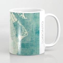 Toronto Map Blue Vintage Coffee Mug